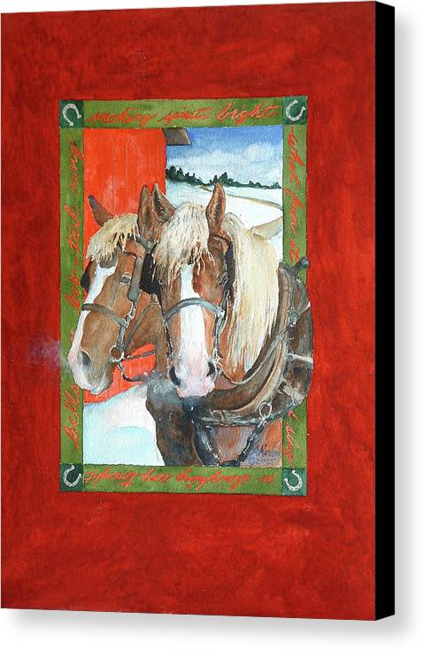 Horses Canvas Print featuring the painting Bright Spirits by Christie Michelsen