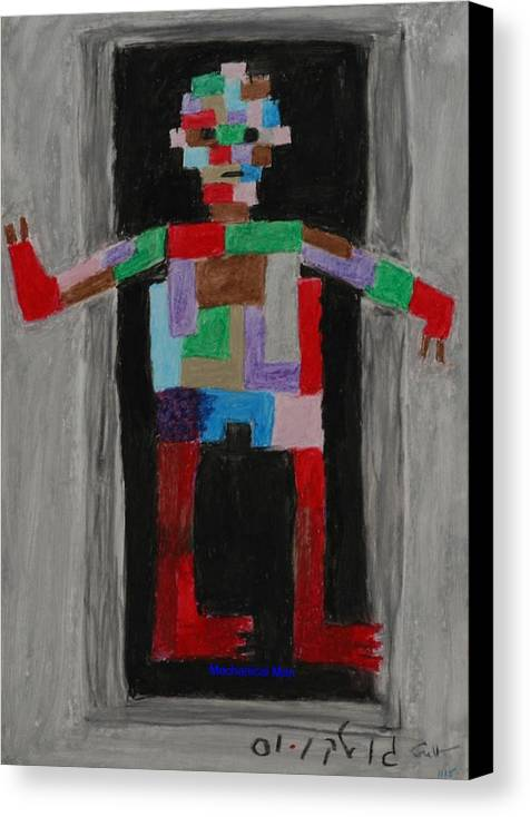 Children Canvas Print featuring the painting Mechanical Man by Harris Gulko