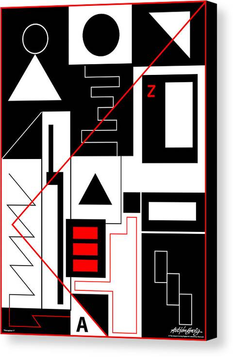 Asbjorn Lonvig Canvas Print featuring the digital art Perception I by Asbjorn Lonvig