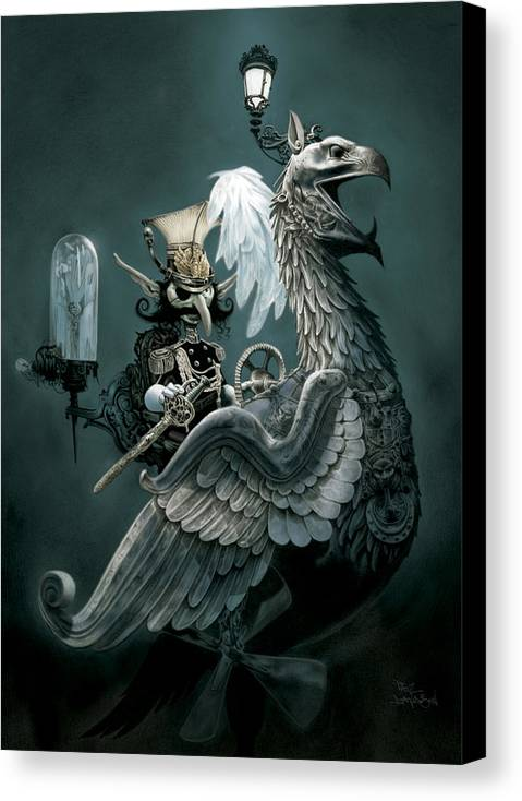 Goblin Canvas Print featuring the painting Phoenix Goblineer by Paul Davidson