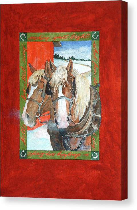 Horses Canvas Print featuring the painting Bright Spirits by Christie Martin