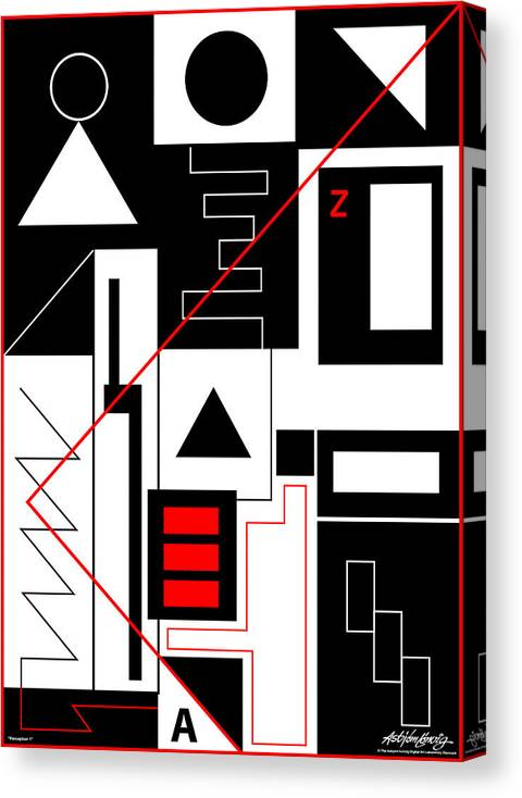 Asbjorn Lonvig Canvas Print featuring the digital art Perception I by Asbjorn Lonvig