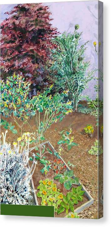 Garden With Artichokes Canvas Print featuring the painting Berkeley Garden #2 by Joanna Katz