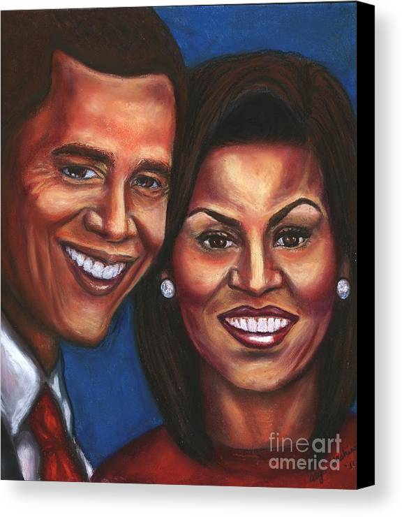 First Couple Canvas Print featuring the mixed media A Dream Came True by Alga Washington