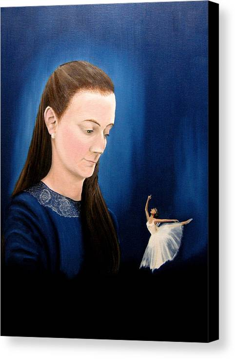 Portraits Canvas Print featuring the painting Hope by Ivan Rijhoff