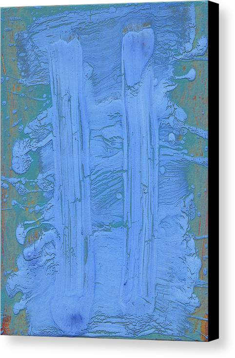 Blue Canvas Print featuring the painting Blue Fragments by F Michael Wells