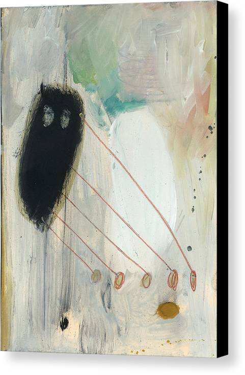 Action Canvas Print featuring the painting Fuzzy Feeding by F Michael Wells