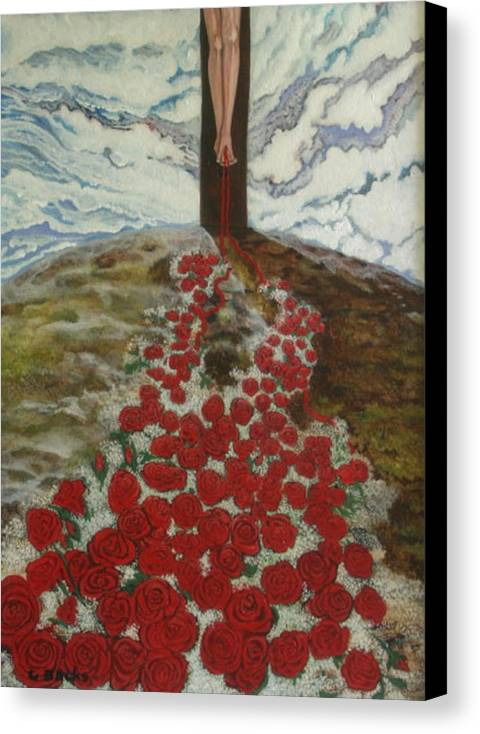 Figurative Canvas Print featuring the painting Roses by Georgette Backs