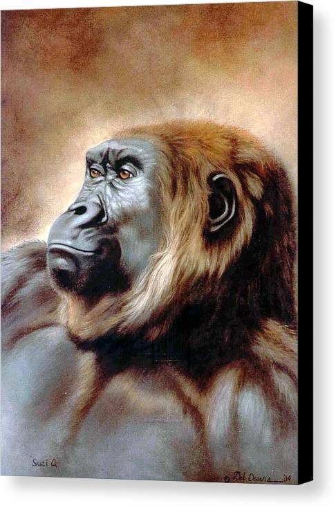 Gorilla Canvas Print featuring the painting Suzie Q by Deb Owens-Lowe