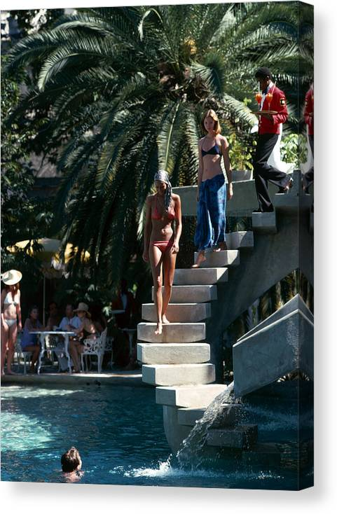 People Canvas Print featuring the photograph Habitation Leclerc by Slim Aarons