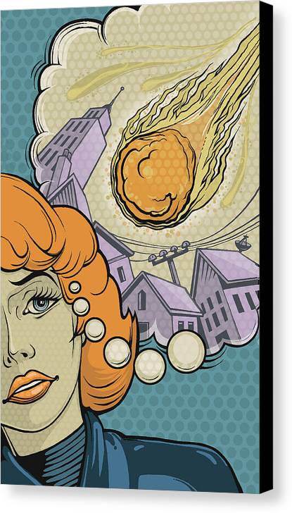 Woman Canvas Print featuring the digital art Last Call by Dennis Wunsch