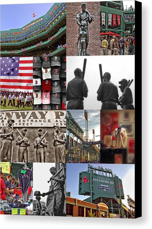 Boston Red Sox Canvas Print featuring the photograph Fenway Memories by Joann Vitali