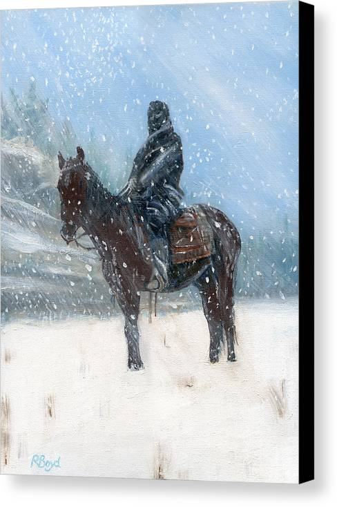 Winter Canvas Print featuring the painting Spotted Tail by Robert Boyd