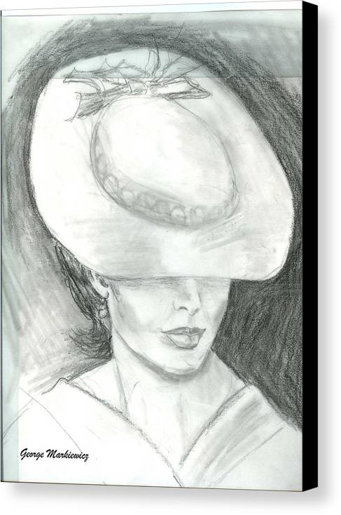 Woman Of Mystery Canvas Print featuring the print Mysterious by George Markiewicz