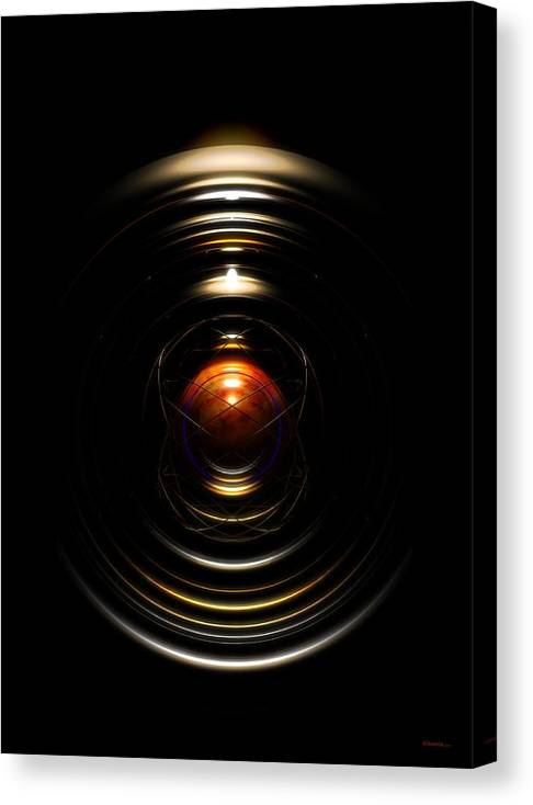 Abstract Canvas Print featuring the digital art Radial Cage by James Kramer