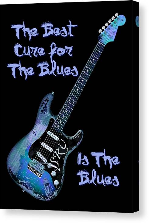 Strat Canvas Print featuring the digital art Blues Is The Cure by WB Johnston