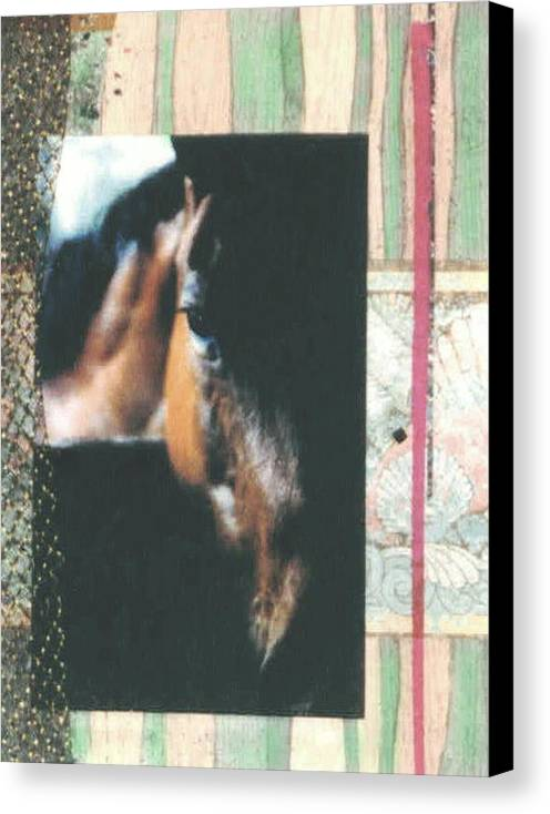 Horse Canvas Print featuring the mixed media Bud by Mary Ann Leitch