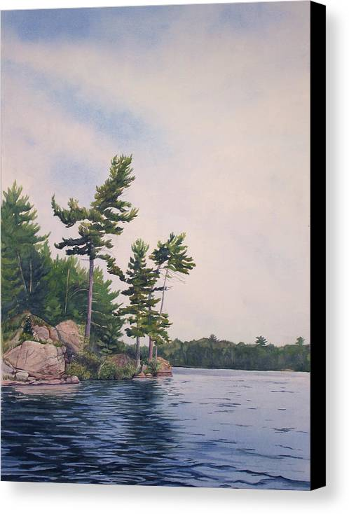 Canadian Shield Canvas Print featuring the painting Canadian Shield Sculpture No. 2 by Debbie Homewood