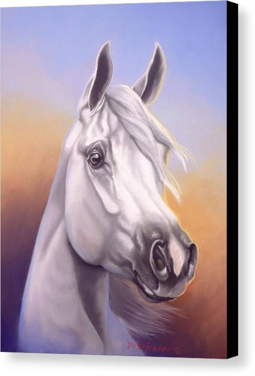 Arabian Canvas Print featuring the painting Desert Prince by Howard Dubois