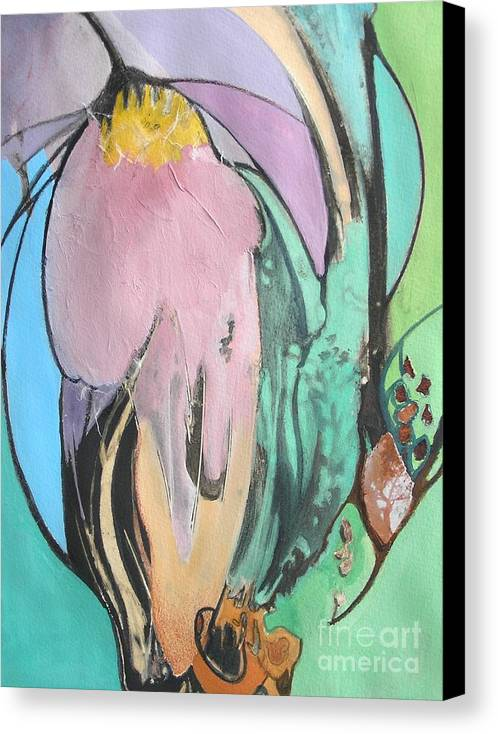 Abstract Canvas Print featuring the painting Flowers To Seeds by Barbara Couse Wilson