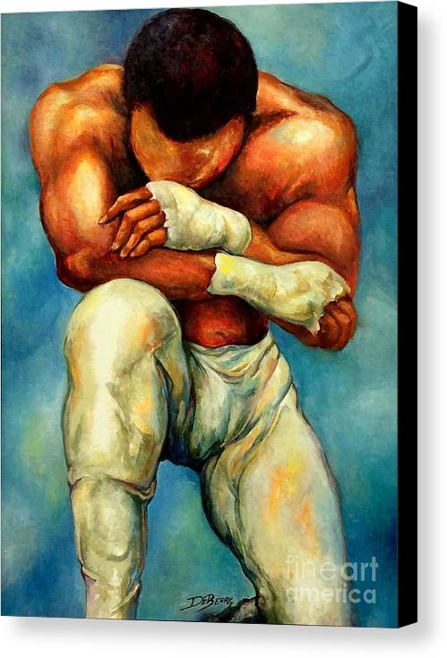 Lloyd Debery Canvas Print featuring the painting Michael Original by Lloyd DeBerry