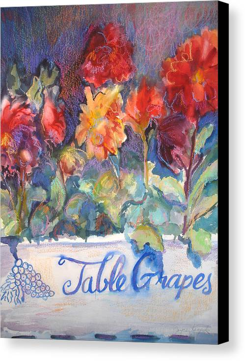 Flowers Canvas Print featuring the painting Table Grapes by Joyce Kanyuk