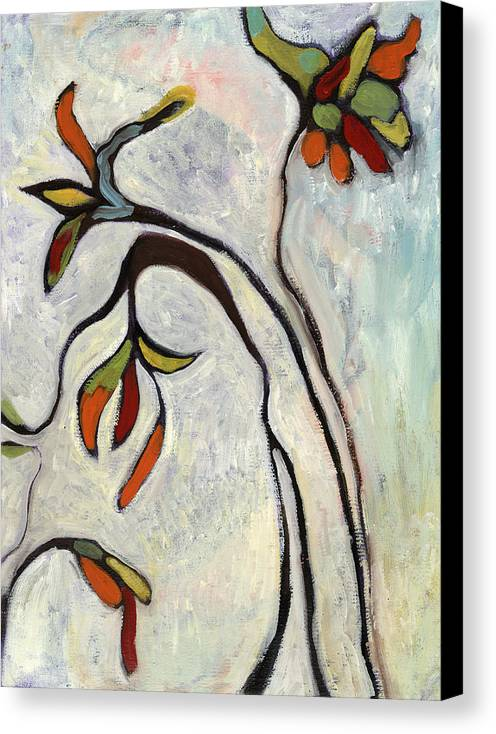 Painting Canvas Print featuring the painting Weeds2 by Michelle Spiziri