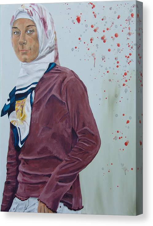 Girl Canvas Print featuring the painting Daughter Of The Prophet by Kevin Callahan