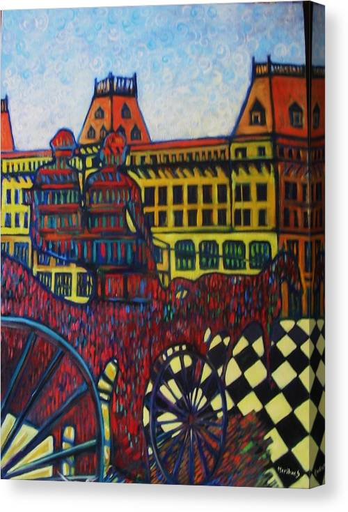 Canvas Print featuring the painting The Road To Peace by Marilene Sawaf