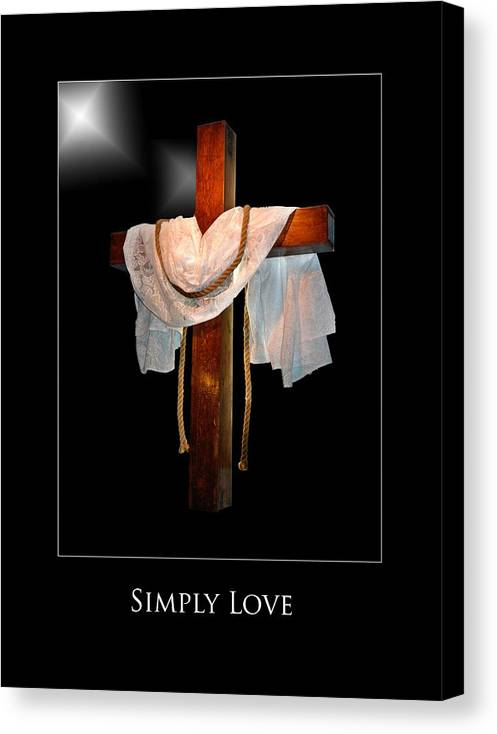 Canvas Print featuring the photograph Simply Love by Richard Gordon