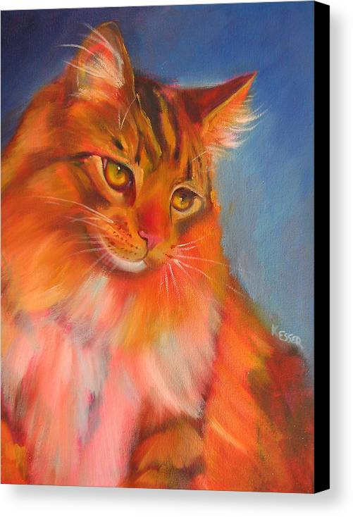 Maine Coon Cat Canvas Print featuring the painting Romeo by Kaytee Esser