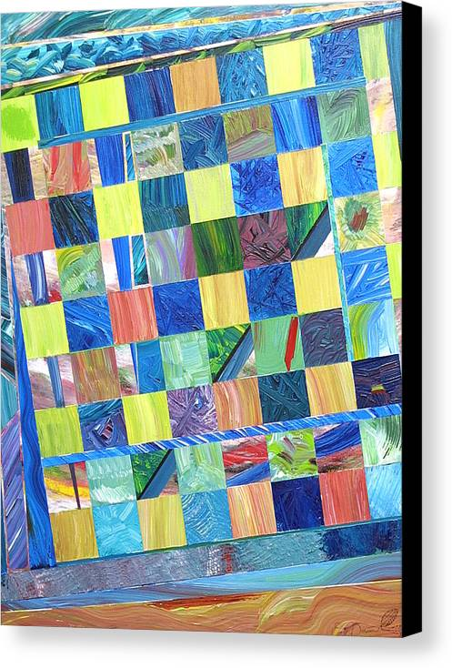 Chess Board Canvas Print featuring the painting Stained Glass Sanctuary by Eric Devan