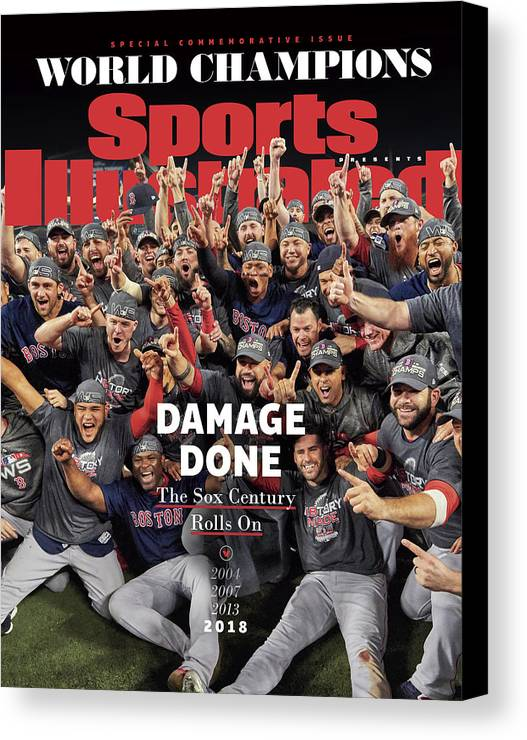 Championship Canvas Print featuring the photograph Boston Red Sox, 2018 World Series Champions Sports Illustrated Cover by Sports Illustrated