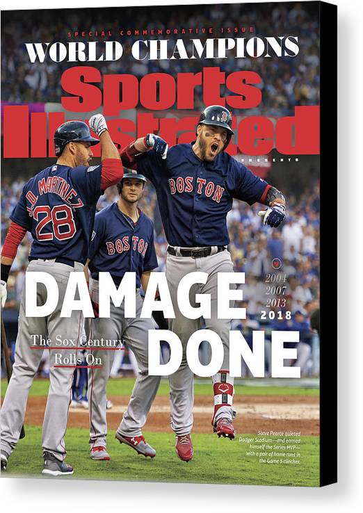 American League Baseball Canvas Print featuring the photograph Boston Red Sox, 2018 World Series Champions Sports Illustrated Cover by Sports Illustrated