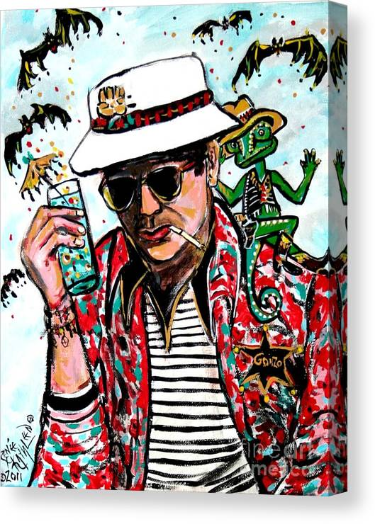 Art print POSTE Thompson CANVAS Gonzo Writer Hunter S