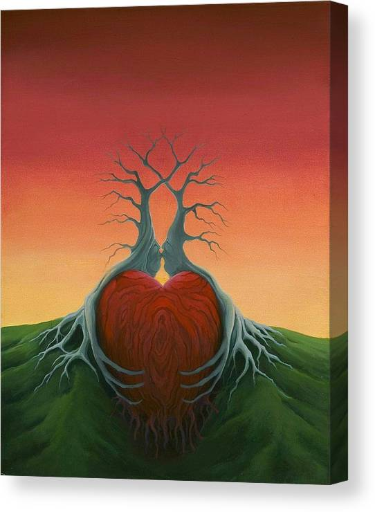 Tree Canvas Print featuring the painting Heartwood by Boris Koodrin