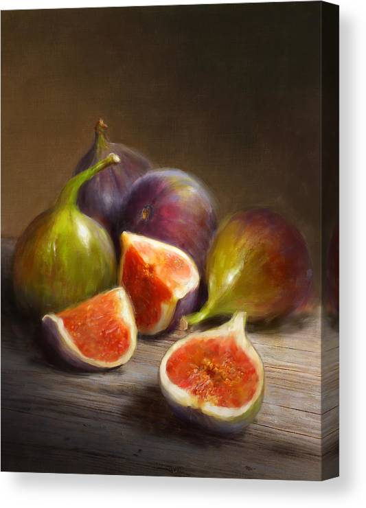 Figs Canvas Print featuring the painting Figs by Robert Papp