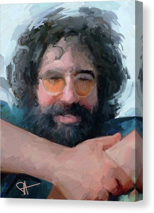 Jerry Canvas Print featuring the digital art Jerry by Scott Waters