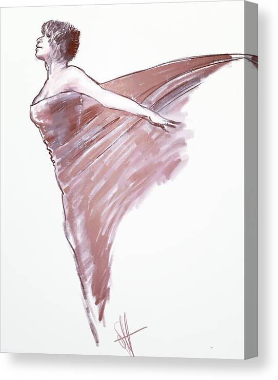 Drawing Canvas Print featuring the digital art Angel by Scott Waters