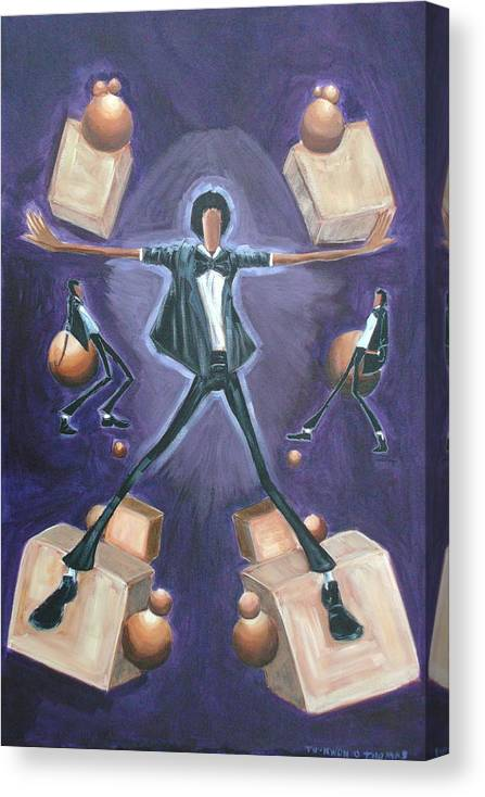 Michael Canvas Print featuring the painting Don't Stop Till You Get Enough by Tu-Kwon Thomas