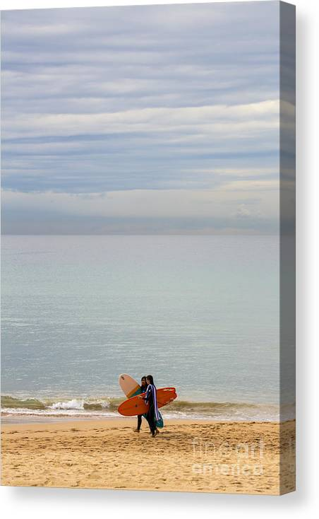 Pastel Canvas Print featuring the photograph Pastel Manly morning by Sheila Smart Fine Art Photography