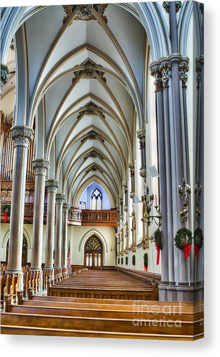 Canvas Print featuring the photograph St Louis Church 15 by Chuck Alaimo