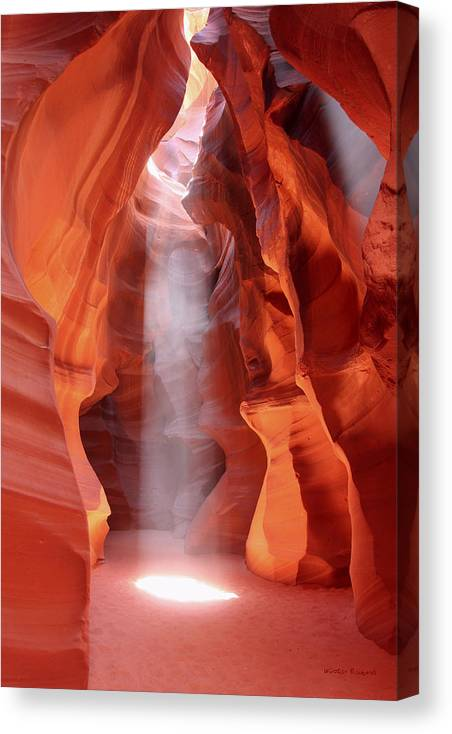 Antelope Canyon Canvas Print featuring the photograph Ethereal by Winston Rockwell
