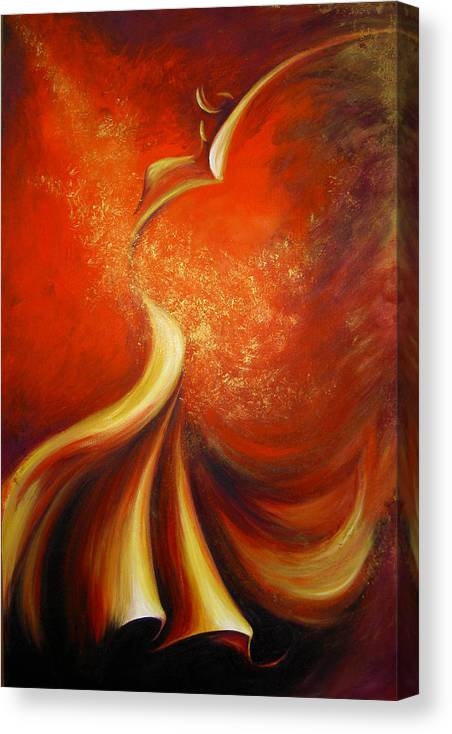Figure Study Canvas Print featuring the painting Mystery Dance by Dina Dargo
