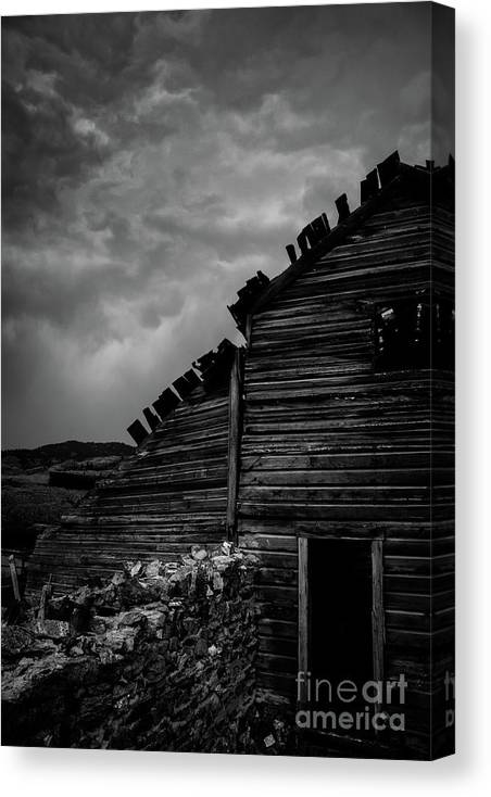 Stone Canvas Print featuring the photograph Stone Wall by David Hillier