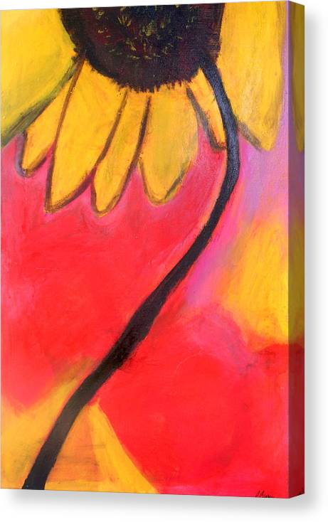 Sunflower Canvas Print featuring the painting Sunflower Love by Patricia Byron