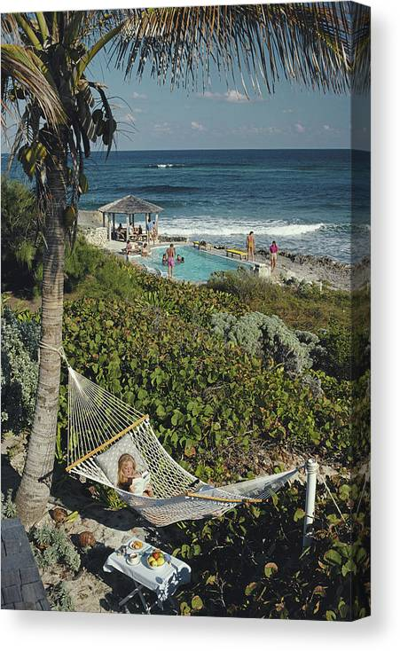 1980-1989 Canvas Print featuring the photograph Abaco Holiday by Slim Aarons