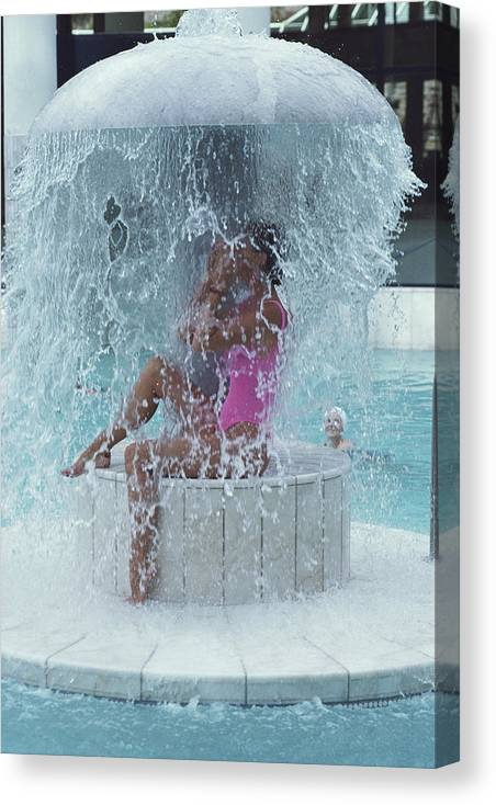 Baden-baden Canvas Print featuring the photograph Caracalla Therme by Slim Aarons
