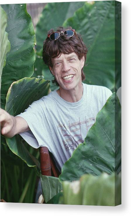 Mick Jagger Canvas Print featuring the photograph Jagger On Holiday by Slim Aarons