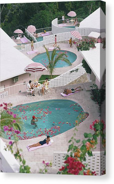 Apartment Canvas Print featuring the photograph Las Brisas Hotel by Slim Aarons
